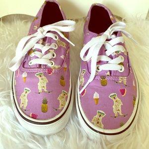 Women's Vans - Pink Pineapple Print Sneakers